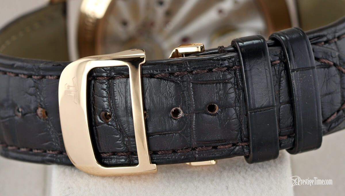 1612420 brown alligator leather strap