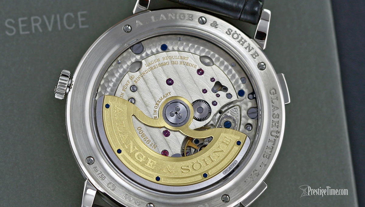 A Lange Sohne Saxonia Dual Time 40mm Movement