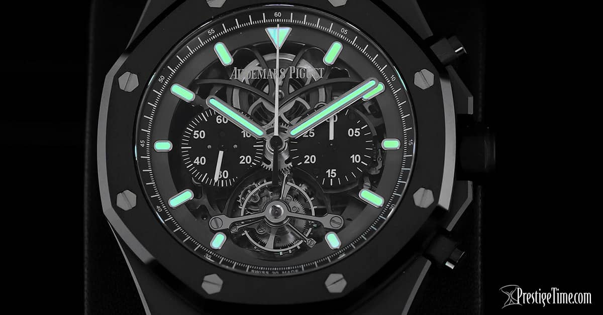 AP Royal Oak Tourbillon Chronograph Openworked Glowing Lume