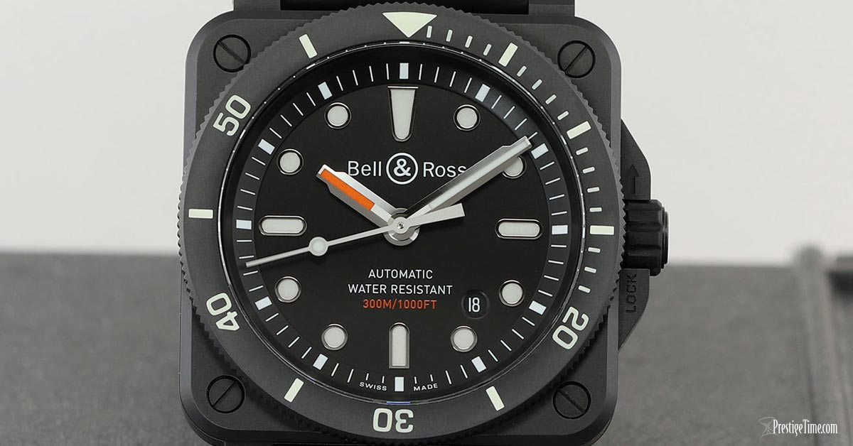 Bell and Ross BR03 92 Diver Ceramic 42mm Dial