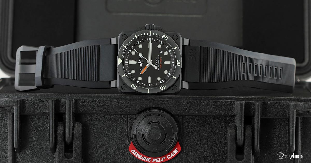 Bell and Ross BR03 92 Diver Ceramic 42mm Peli Case