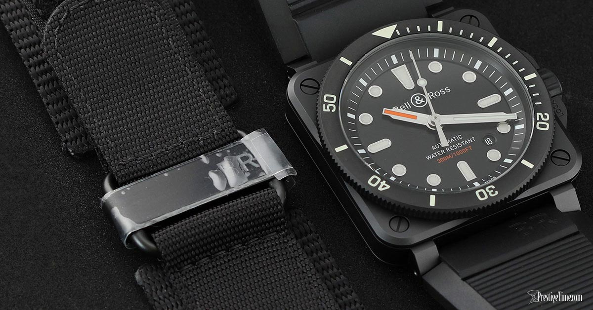 Bell and Ross BR03 92 Diver Ceramic 42mm Strap