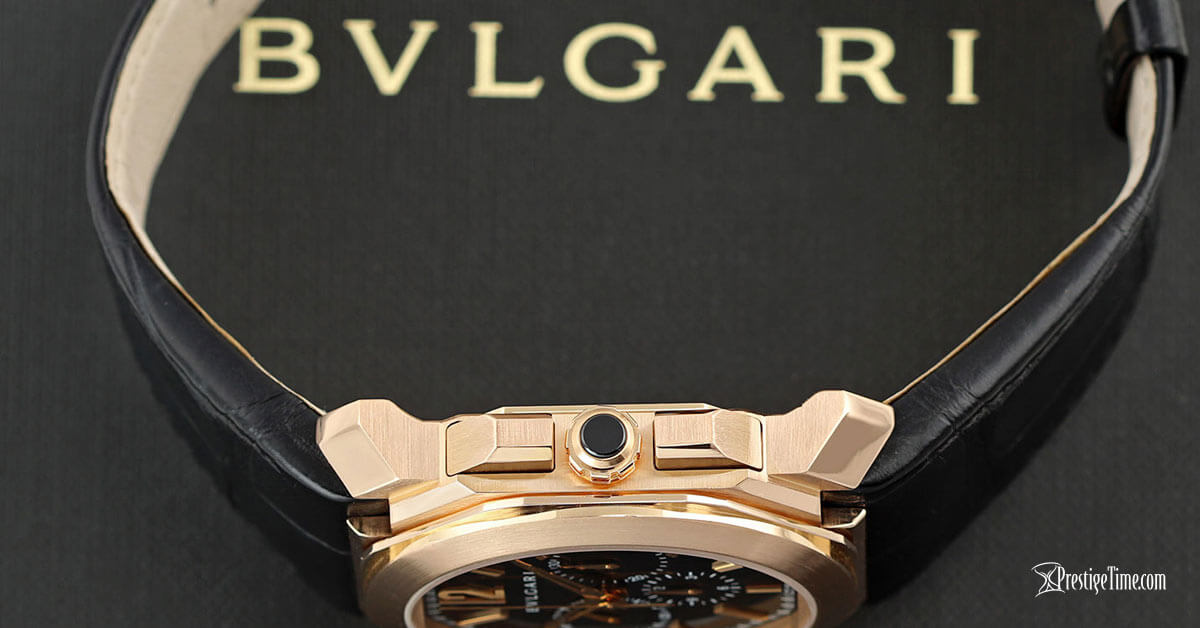 Bulgari Octo Velocissimo Chronograph 41mm Pushers and Crown