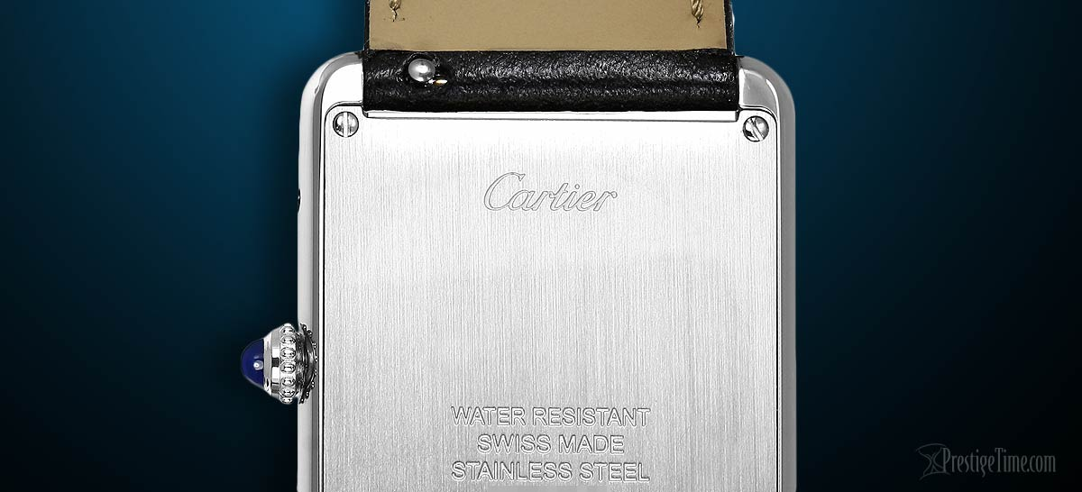 Steel case back has an area where you can engrave an inscription or message