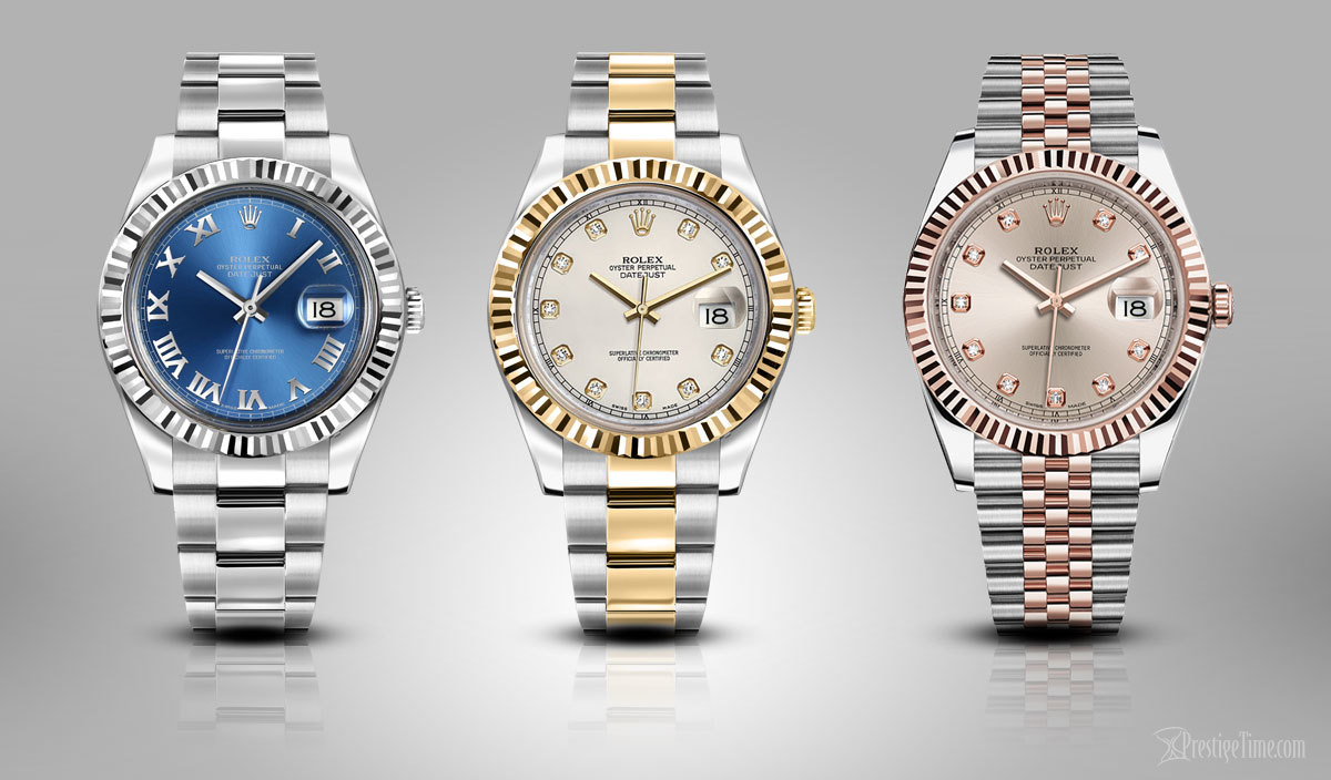 Datejust II 116334 Blue Roman 116333 Ivory Diamond and Datejust 126331 Sundust Diamond Jubilee
