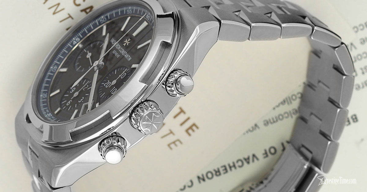 Vacheron Constantin Overseas Chronograph Pushers and Crown