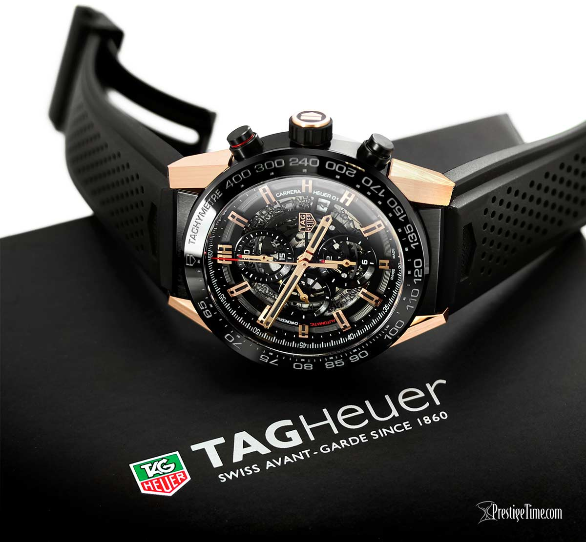 Tag Carrera Heuer 01 Chronograph Rose Gold