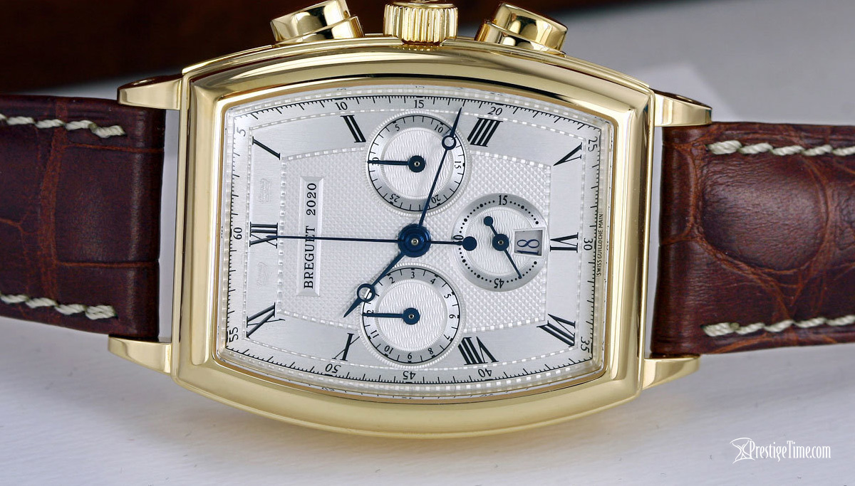 Breguet Heritage Chronograph dial and blue hands